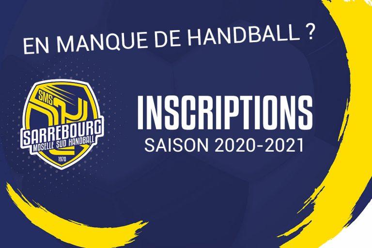 inscriptions handball smshb 2020 - 2021